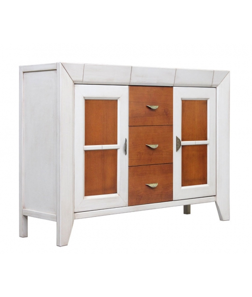 Two tone cupboard with drawers. Sku G-1108-bi
