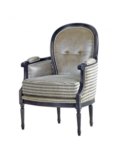 beech wood armchair, wooden armchair, classic armchair, upholstered armchair, wide armchair, living room armchair,