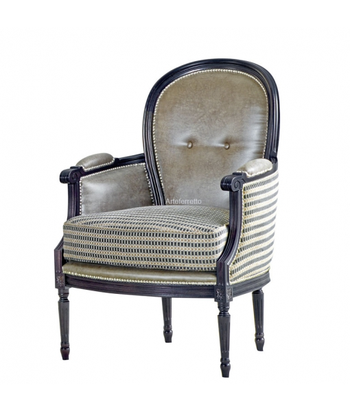 Beech wood armchair in classic style. Sku g-526
