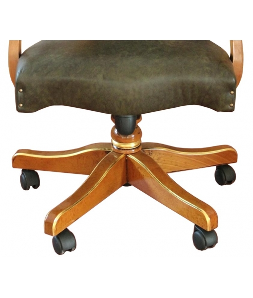 upholstered office armchair, padded armchair, comfortable armchair, office armchair, classic armchair, swivel armchair, swivel wooden armchair, beech wood office armchair, office furniture, office chair, armrests chair, study room armchair