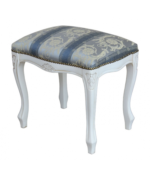 lacquered footrest stool, wooden stool, lacquered stool, living room furniture, bedroom furniture, wooden furniture, stoll, classic stool 1700s style stool