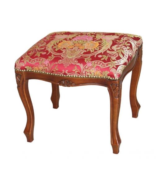 footrest stool, stool, wooden stool, wooden furniture, living room furniture, bedroom furniture, padded stool,