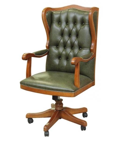 Upholstered swivel office armchair. Sku King4