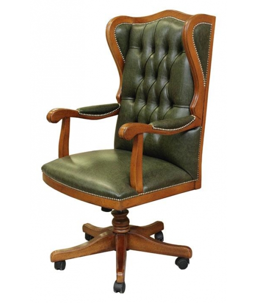 "Upholstered Swivel Office Armchair ""King"""