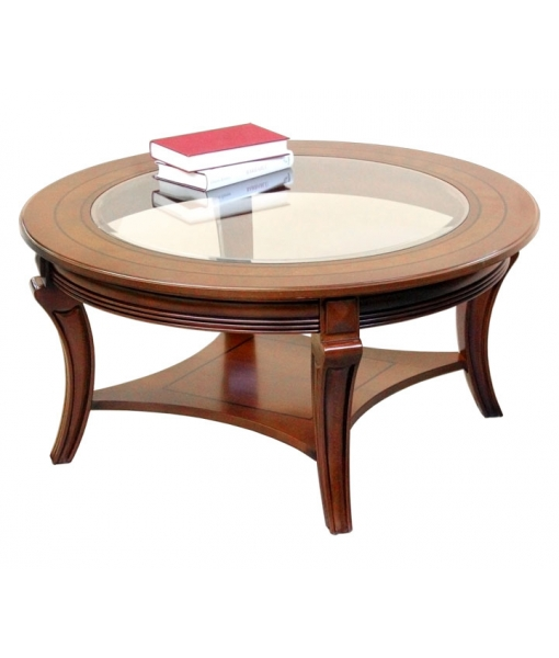 Rounded wooden coffee table sku. MIT-06