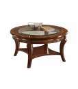 rounded coffee table, wooden coffee table, coffee table crystal top, living room coffee table, living room furniture, classic furniture