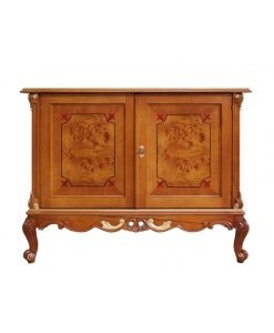 carved sideboard, sideboard, sideboard with carving, sideboard with briar-root, wooden sideboard, elegant sideboard, sideboard for living room