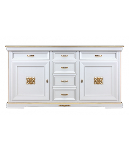 classic sideboard, lacquered sideboard, sideboard, sideboard for living room, elegant sideboard, sideboard with gold decorations