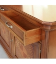 inlaid solid wood sideboard, classic sideboard, inlaid buffet, dining room sideboard, 2 drawer sideboard, classic furniture, dovetail joints