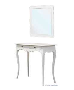 Entryway composition, entryway composition with mirror, hallway furniture, console table, wooden furniture, entryway furniture, classic furniture, console table and mirror