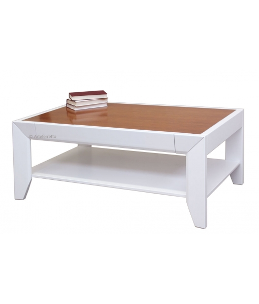 Two colours living room table in wood. Sku P-1101