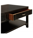 black lacquered coffee table, black coffee table, coffee table