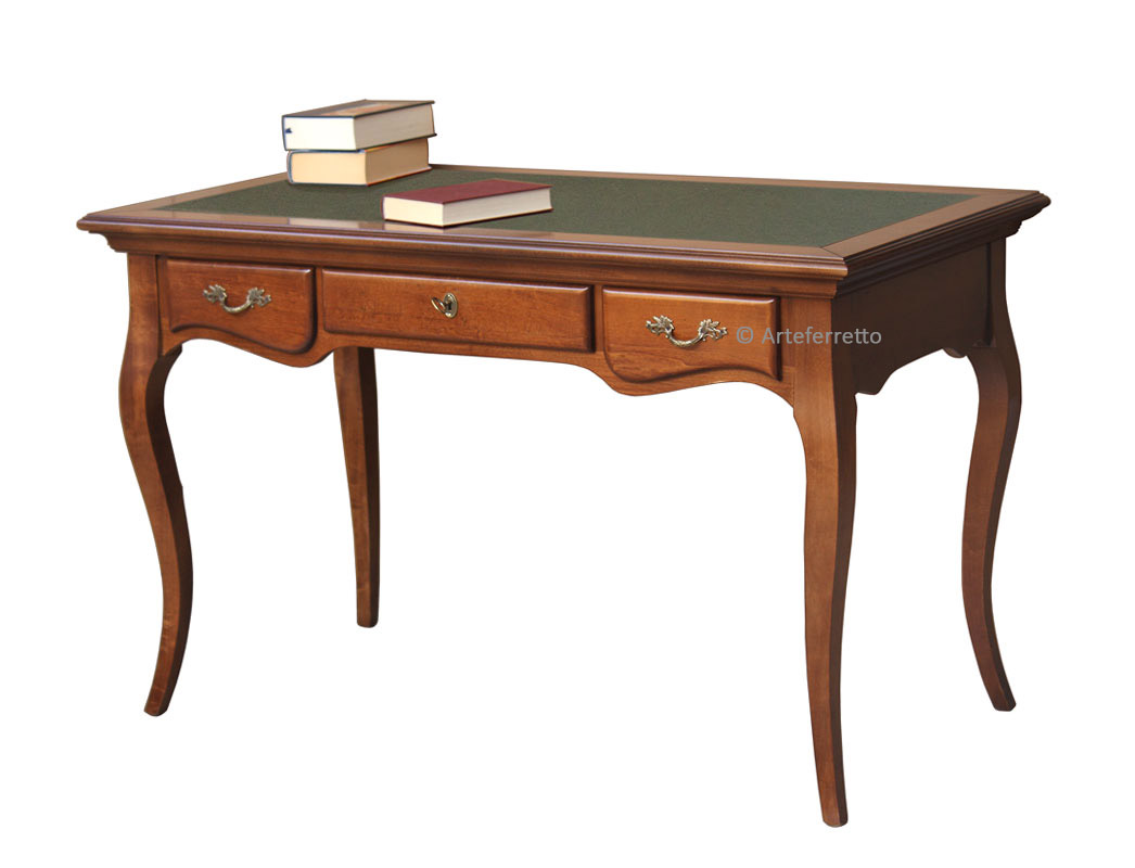 office wooden desk, office desk, wooden writing desk, 3 drawer desk, office furniture, classic desk,