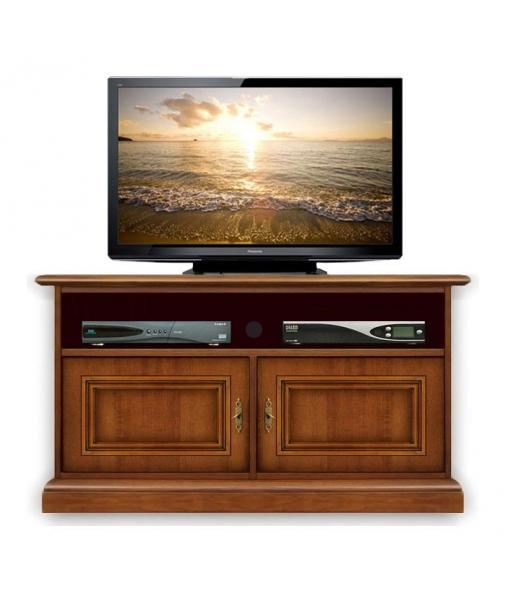 porta tv in legno con spazio per soundbar