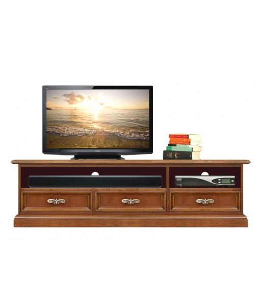 Low TV cabinet in wood. Sku sb-11-plus