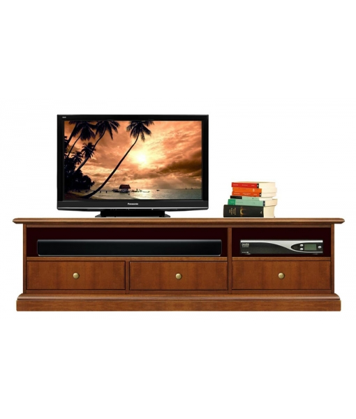 low Tv unit, tv cabinet, living room furniture, tv cabinet in wood, wooden low cabinet, Arteferretto furniture