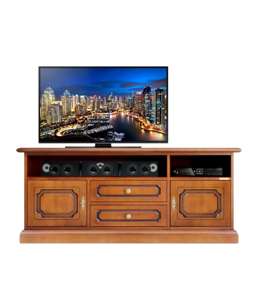 Wooden tv unit with soundbar shelf. sku SB-130-S