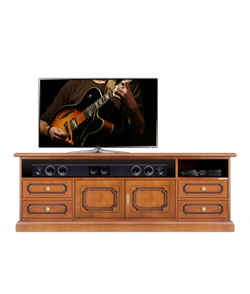 Wooden tv cabinet soundbar compartment, SKU: SB-160-3S
