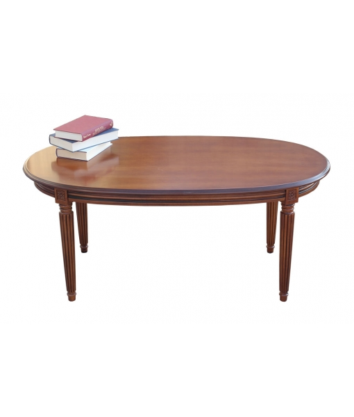 oval coffee table Empire style, coffee table, wooden coffee table, living-room furniture, Art. SIM-01