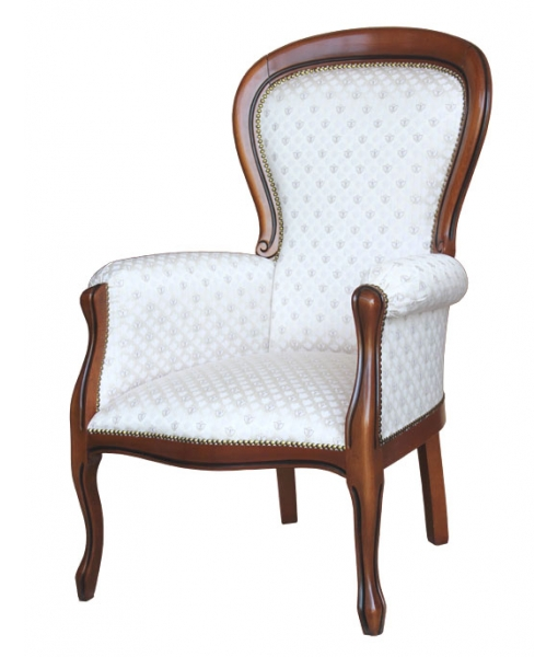 Classic upholstered armchair in Louis Philippe style. Sku TP-43