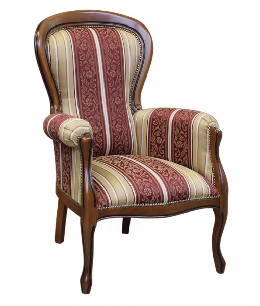 upholstered armchair, classic armchair, wooden armchair, padded armchair, solid beech wood armchair, living room armchair, classic furniture, living room furniture, white armchair