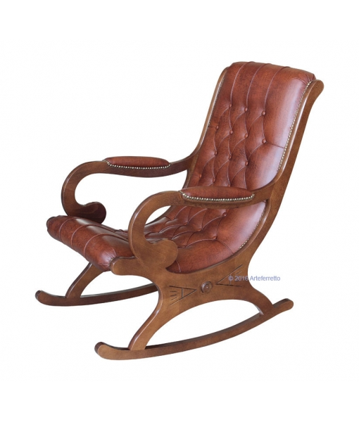 classic rocking armchair, real leather armchair, rocking armchair, armchair, rocking armchair for living room, livin room