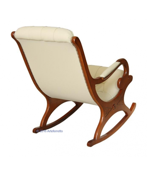 rocking armchair, wooden rocking armchair, rocking armchair for living room, armchair, rocking armchair with eco leather, furniture for living room