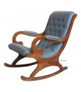 wooden armchair, wooden rocking armchair, eco-friendly rocking armchair, wooden rocking armchair, rocking armchair for living room, armchair, rocking armchair with eco leather, furniture for living room