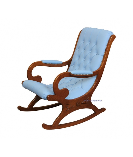 wooden rocking armchair, italian design rocking armchair, rocking armchair, wooden rocking armchair, rocking armchair for living room, armchair, rocking armchair with eco leather, furniture for living room