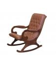wooden rocking armchair, rocking armachair in leather, rocking armchair, wooden rocking armchair, rocking armchair for living room, armchair, rocking armchair with eco leather, furniture for living room