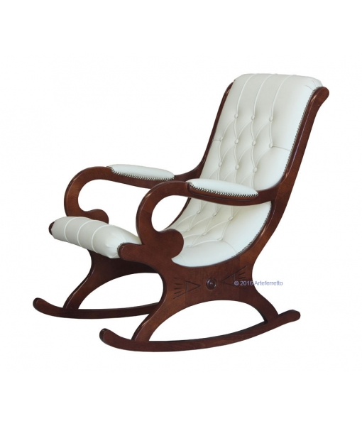 walnut wood rocking armchair, living room armchair, rocking armchair, wooden rocking armchair, rocking armchair for living room, armchair, rocking armchair with eco leather, furniture for living room
