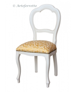 Beech wood chair, dining room chair, living room chair, classic chair, white chair, upholstered chair