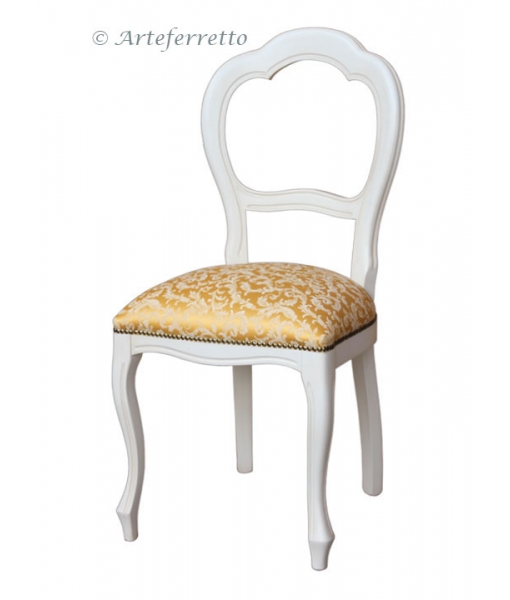 Beech wood chair for dining room. Sku VIS-400. Fabric: Top. Code: T-41