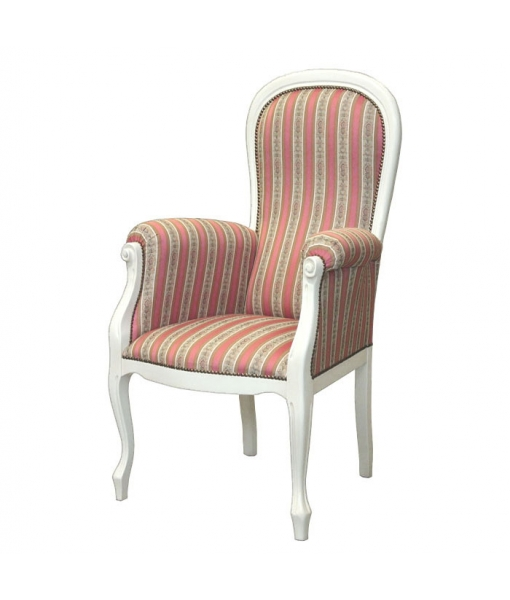 Lacquered armchair Voltaire. Product code: Vis-54-N . fabric code: ST-37