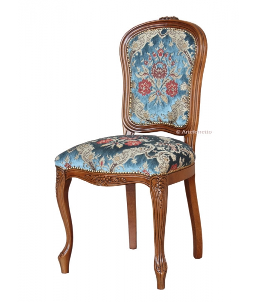 Carved dining chair, classic style. SKU.