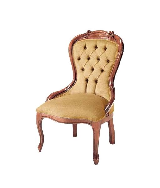 Bedroom armchair in solid wood. Sku  VIS-75