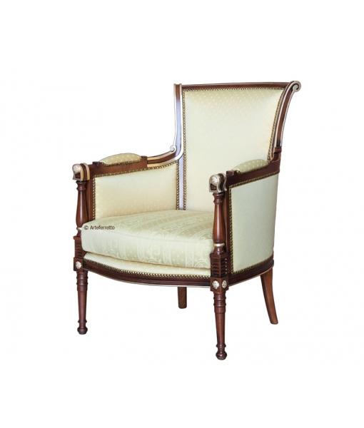 Classic armchair in solid beech wood. Sku vs-42