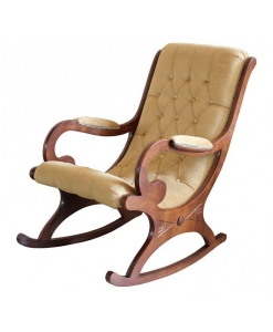 rocking armchair, armchair, rocking armchair for living room, living room furniture, wooden rocking armchair