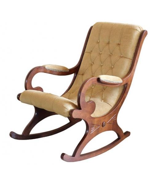 Rocking armchair capitonée. Product code: Vis-01velvet