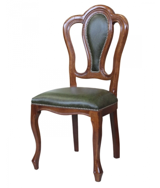 Classic chair with leather. Product code: Vis-164P