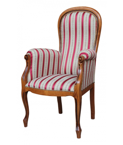 Raised seat armchair Voltaire. Product code: Vis-54. Fabric code: ST-35