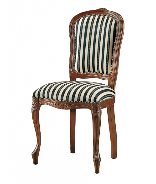 carved dining chair, classic dining chair, wooden chair, upholstered chair, classic style furniture for dining room, beech wood chair, handcrafted chair, Italian design furniture, chair made in Italy, wood chair