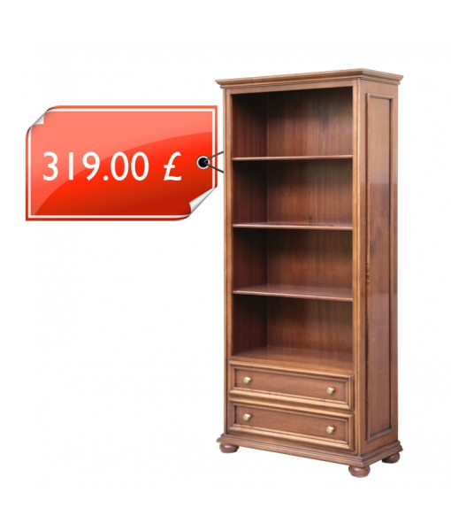 Classic bookcase with 2 drawers. Product code: 417-promo