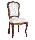 sedia in legno di faggio imbottita