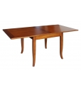 flip-top square table, squared table, classic table, dining table, dining room furniture, furniture made in Italy, solid wood table, toulipier solid table, wooden table