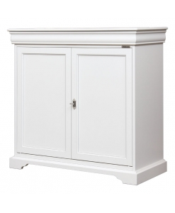 lacquered classic sideboard, sideboard, classic sideboard, lacquered sideboard, white sideboard, Louis Philippe style, living room sideboard, living room furniture