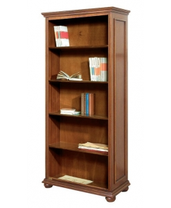 tall open bookcase, open bookcase, tall bookcase, bookshelf, wood bookcase, furniture in wood
