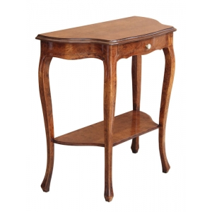 Shaped console tables with a drawer Art. 121 in Bassano finish