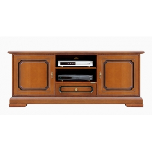 Tv cabinet 150 cm Art. 3059-S-plus in cherry colour with patina finish