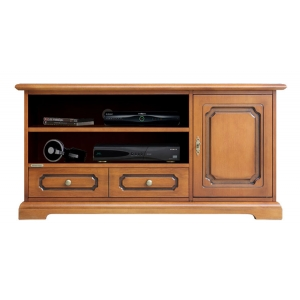 Tv cabinet Art. 3701-S in cherry colour with patina finish